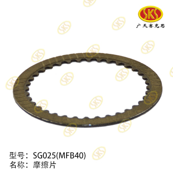 FRICTION PLATE-SG025 709-1801